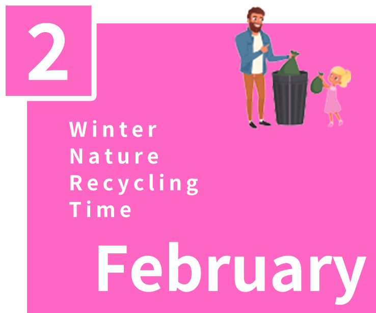 February,Winter,Nature,Recycling,Time